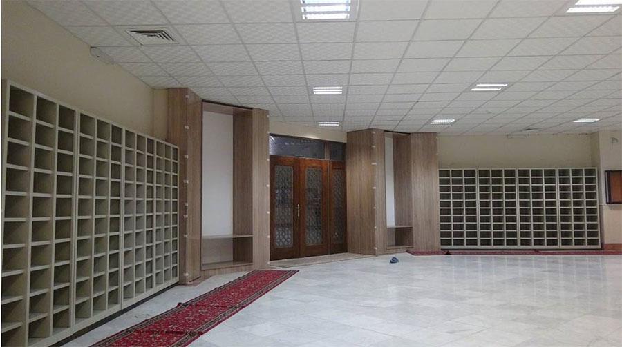 کاربرد جا کفشی فلزی در مکان های مختلف - جاکفشی مسجد و مدرسه