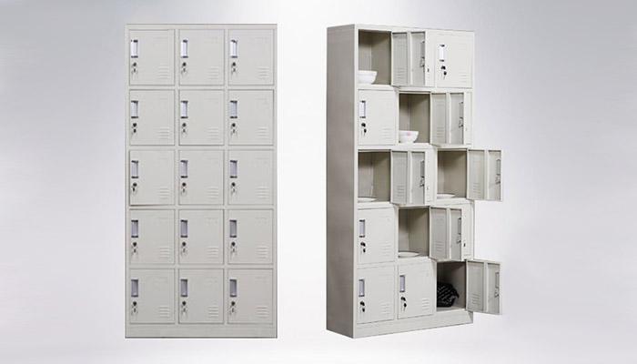تجهیزات و لوازم اداری فلزی 4 - کمد های جاکفشی و جاموبایلی فلزی