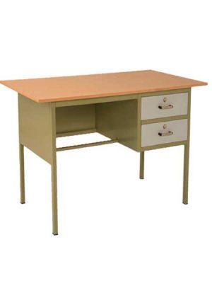 میز فلزی دو کشو معلم