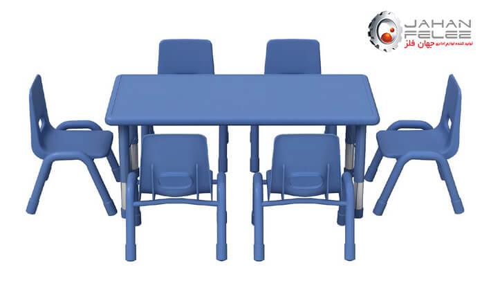 میز مطالعه شش نفره